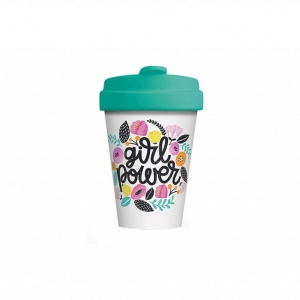 Mug Thermos en bambou Girl Power