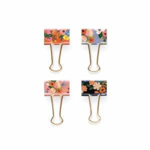 Set 8 clips lively floral