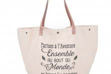 "Grand sac shopping ""Partons à l'aventure"" Crea bisontine"
